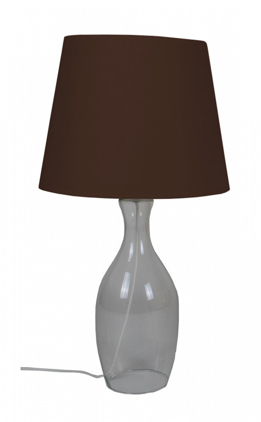 tischlampe mit glasfu 63 cm tischleuchte wohnzimmerlampe lampe nachttischlampe ebay. Black Bedroom Furniture Sets. Home Design Ideas