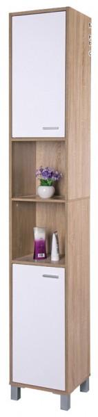 badezimmer hochschrank eichenoptik badschrank badregal badhochschrank bad regal ebay. Black Bedroom Furniture Sets. Home Design Ideas