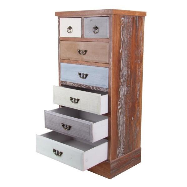 vintage kommode mit 7 schubladen hochschrank sideboard. Black Bedroom Furniture Sets. Home Design Ideas