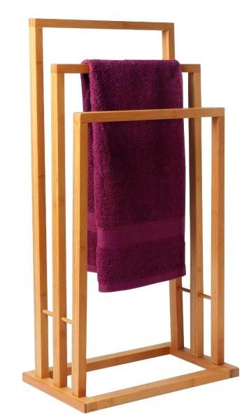 dekorativer bambus handtuchst nder handtuchhalter holz 3. Black Bedroom Furniture Sets. Home Design Ideas