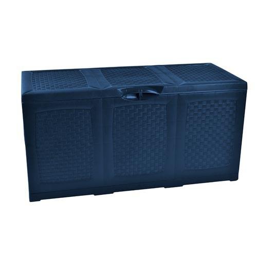blaue garten kissentruhe f r auflagen kissenbox aufbewahrungsbox auflagenbox neu ebay. Black Bedroom Furniture Sets. Home Design Ideas