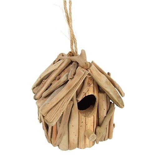 nichoir en bois flott mangeoire oiseaux pour nourriture. Black Bedroom Furniture Sets. Home Design Ideas