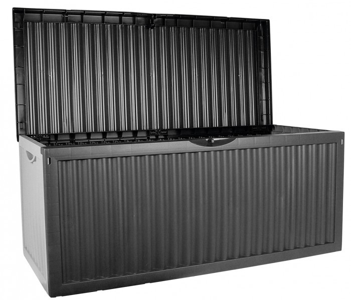 gartenkissenbox 120x52x54cm 350l anthrazit kissenbox auflagenbox gartenstuhl neu ebay. Black Bedroom Furniture Sets. Home Design Ideas
