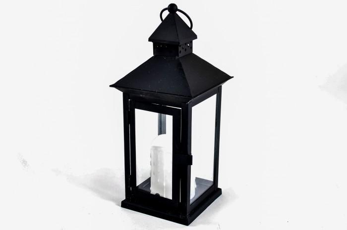 laterne mit led kerze windlicht leuchte beleuchtung gartenlampe. Black Bedroom Furniture Sets. Home Design Ideas