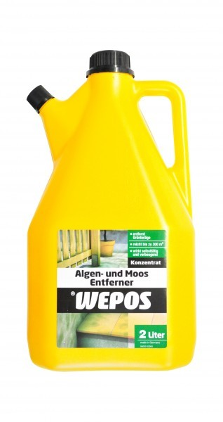 wepos algen und moos entferner 2 liter konzentrat. Black Bedroom Furniture Sets. Home Design Ideas