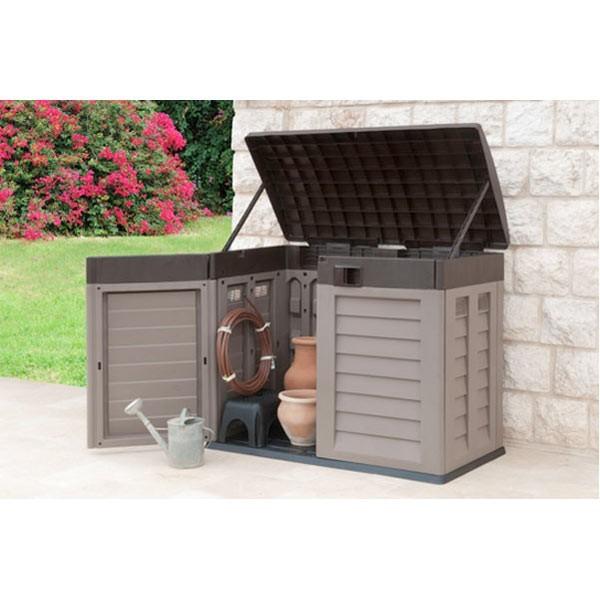 ger te aufbewahrungsbox m lltonnenbox aufbewahrung box. Black Bedroom Furniture Sets. Home Design Ideas