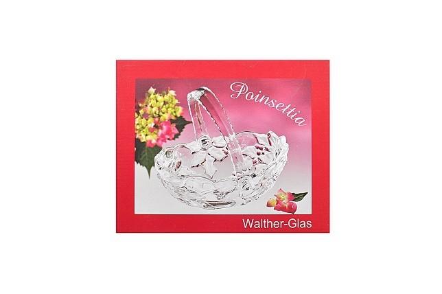walther glas poinsettia k rbchen mit henkel 20 5 cm glask rbchen glasschale. Black Bedroom Furniture Sets. Home Design Ideas