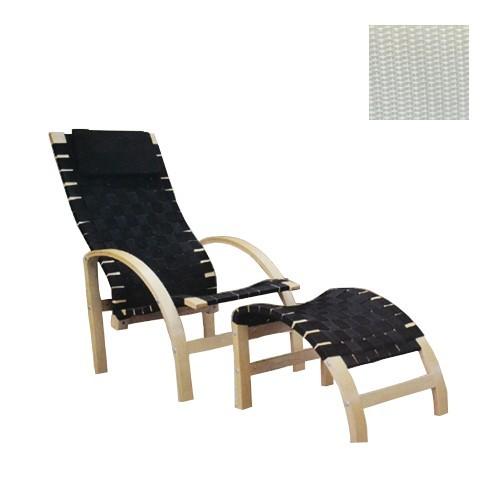 relax sessel mit hocker und auflage schwarz natur relaxsessel wohnen m bel neu ebay. Black Bedroom Furniture Sets. Home Design Ideas