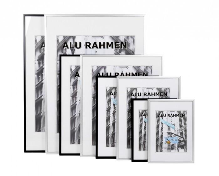 alurahmen foto rahmen bilderrahmen aluminium fotorahmen schwarz silber deko neu. Black Bedroom Furniture Sets. Home Design Ideas
