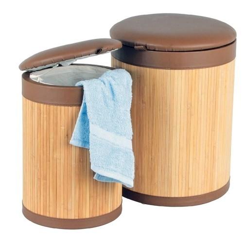 2er sitz w schetonnen set bambus w schekorb w schetruhe sitztonne tonne korb ebay. Black Bedroom Furniture Sets. Home Design Ideas