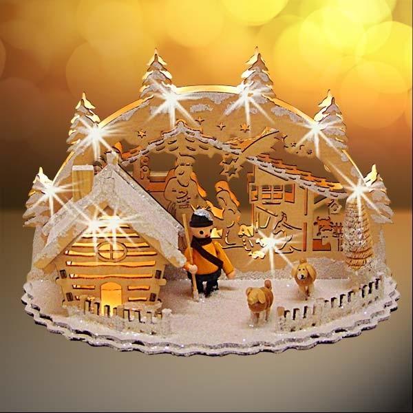 led weihnachtsdekoration schneeh tte weihnachtsdeko. Black Bedroom Furniture Sets. Home Design Ideas