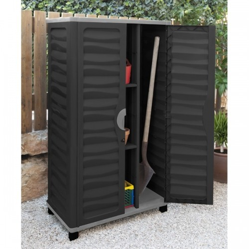 besenschrank mit trennwand ger teschrank gartenschrank werkzeugschrank schrank ebay. Black Bedroom Furniture Sets. Home Design Ideas