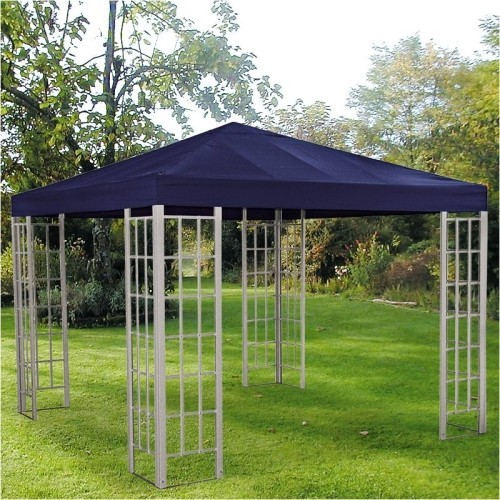 ersatzdach dach ersatzteil f r alu pavillon gartenpavillon partyzelt 3x3m blau ebay. Black Bedroom Furniture Sets. Home Design Ideas