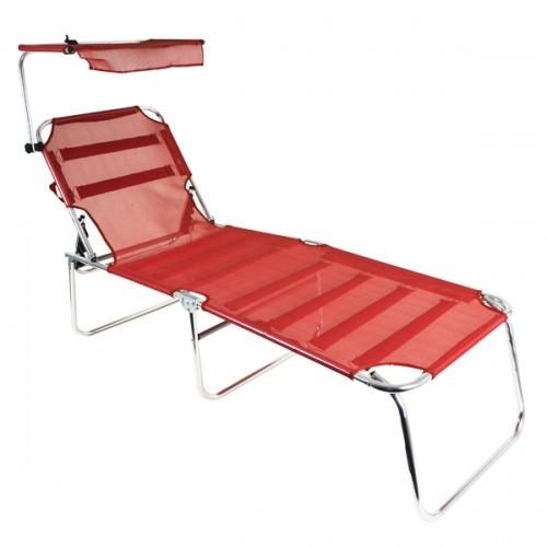 gartenliege mit sonnenschutz sonnenliege alu liege sylt gartenliege liegestuhl mit outsunny. Black Bedroom Furniture Sets. Home Design Ideas