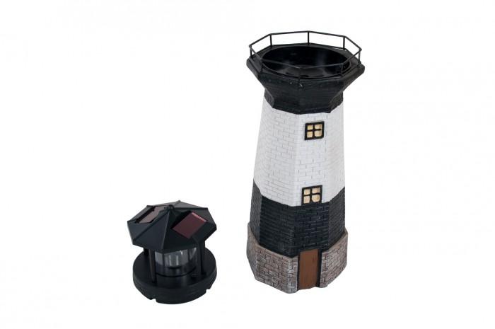 Solar garten leuchtturm mit beleuchtung 38 8cm for Leuchtturm deko garten