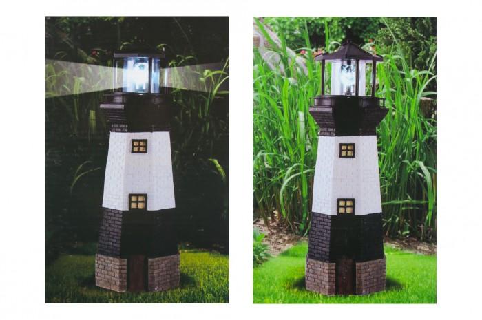 Solar garten leuchtturm mit beleuchtung 38 8cm for Gartendeko solar