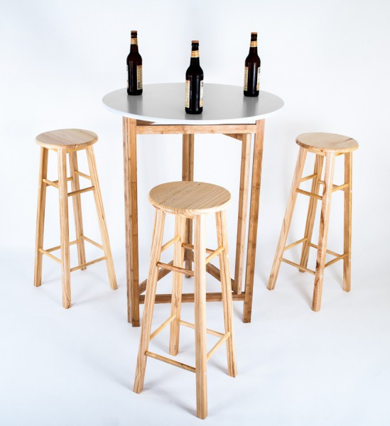bistroset biertisch klappbar 3 barhocker klapptisch stehtisch bistrotisch tresen ebay. Black Bedroom Furniture Sets. Home Design Ideas