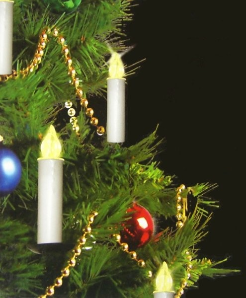 Kabellose led christbaumkerzen lichterkette mit - Lichterkette fernbedienung ...