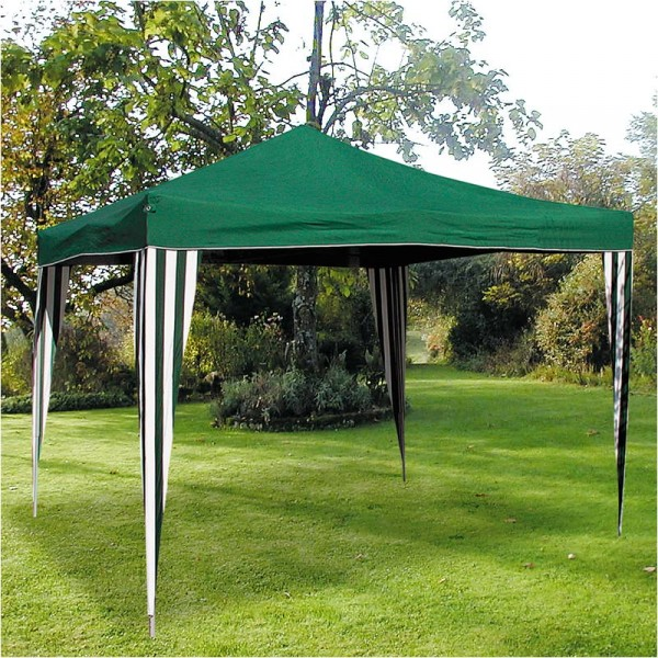 ruck zuck pavillon klappbar 3x3m gr n partyzelt gartenpavillon gartenzelt zelt ebay. Black Bedroom Furniture Sets. Home Design Ideas