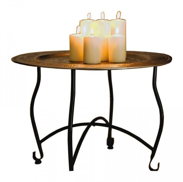orientalischer metalltisch marokko kerzen orientalisch tisch beistelltisch licht ebay. Black Bedroom Furniture Sets. Home Design Ideas