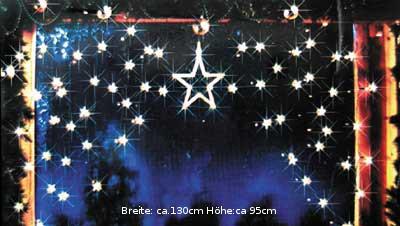 Sternenvorhang 1 gro er 70 kleine weihnachtslicht for Fenster weihnachtsbeleuchtung