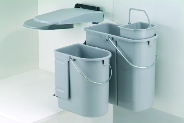 wesco kontainer junior gr n schwarz 29 ltr 14 5 10 f r rechtsanschlag einbau ebay. Black Bedroom Furniture Sets. Home Design Ideas