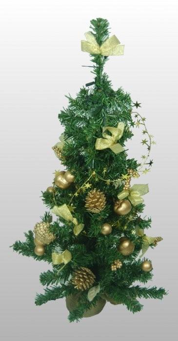 80cm weihnachtsbaum mit beleuchtung fertig geschm ckt baum weihnachten gold top ebay. Black Bedroom Furniture Sets. Home Design Ideas