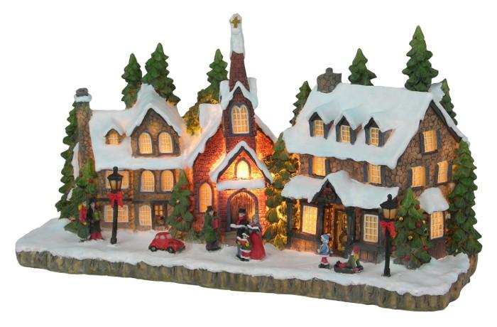 beleuchtete weihnachtsstadt weihnachten weihnachtsdeko. Black Bedroom Furniture Sets. Home Design Ideas