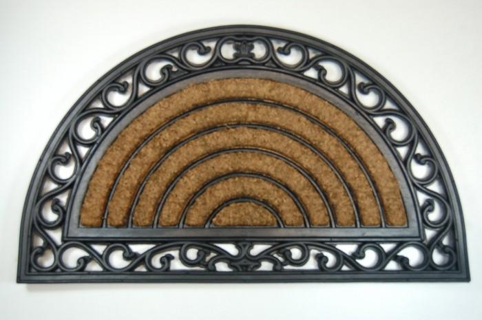 relief gummimatte halbrund kokos einlage abtreter fu matte fu abtreter t rmatte ebay. Black Bedroom Furniture Sets. Home Design Ideas