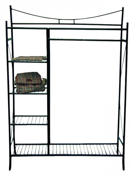 metall garderobe schwarz flurgarderobe standgarderobe. Black Bedroom Furniture Sets. Home Design Ideas