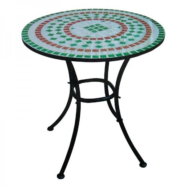 Mosaiktisch treviso mosaik tisch garten terrasse for Table ronde exterieur