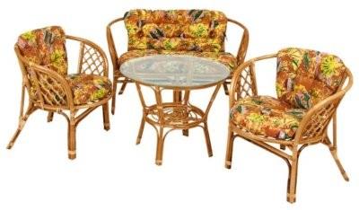 rattan sitzgruppe wintergarten auflagen sonnenblume tisch st hle holztisch ebay. Black Bedroom Furniture Sets. Home Design Ideas