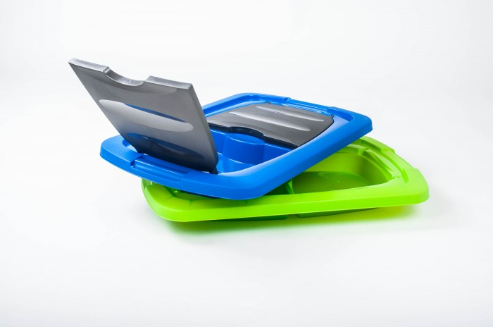 kunststoff box rollbox ablage mit deckel rollen praktisch plastikbox ordnung ebay. Black Bedroom Furniture Sets. Home Design Ideas
