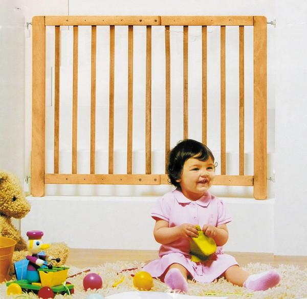 kindergitter absperrgitter treppengitter 70 110 cm kinder holz gitter treppe ebay. Black Bedroom Furniture Sets. Home Design Ideas
