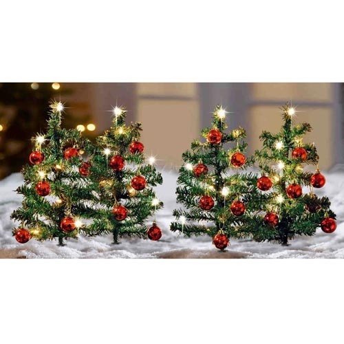 deko advent weihnachtsdeko 4 lichterb umchen 40 lichter weihnachtsbaum licht neu ebay. Black Bedroom Furniture Sets. Home Design Ideas