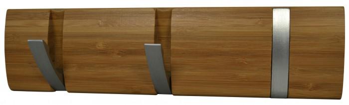 bambus garderobenleiste 3 haken wandhaken garderobe hakenleiste t rhaken leiste ebay. Black Bedroom Furniture Sets. Home Design Ideas