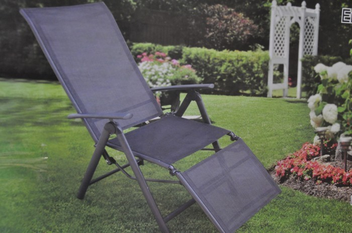 alu klappsessel relax mit fu teil klappstuhl liege stuhl. Black Bedroom Furniture Sets. Home Design Ideas