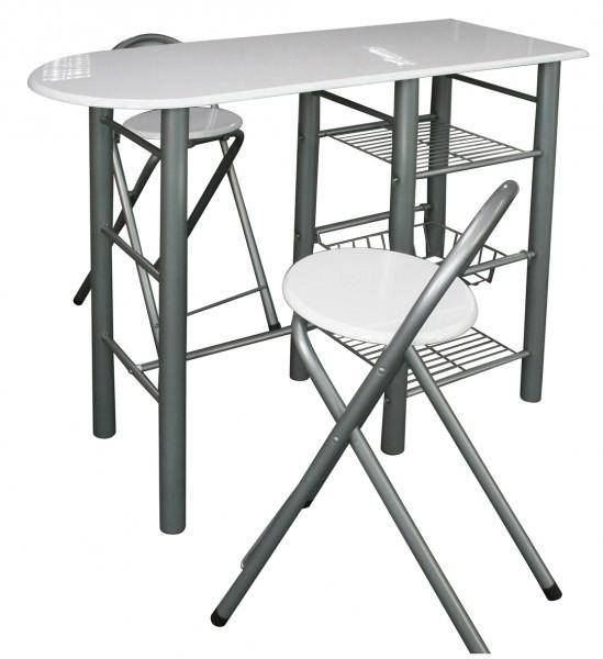 Bartisch mit 2 Stühlen Küchenbar Minibar Tisch Neu B-Ware mit ...