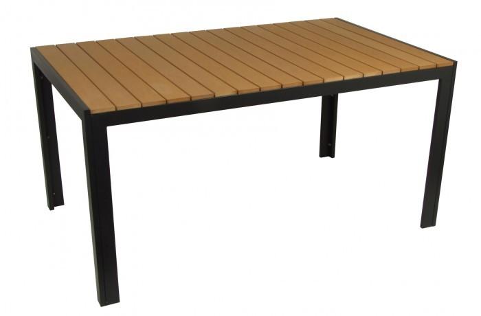 gro er alu gartentisch serra holzoptik aluminiumtisch. Black Bedroom Furniture Sets. Home Design Ideas