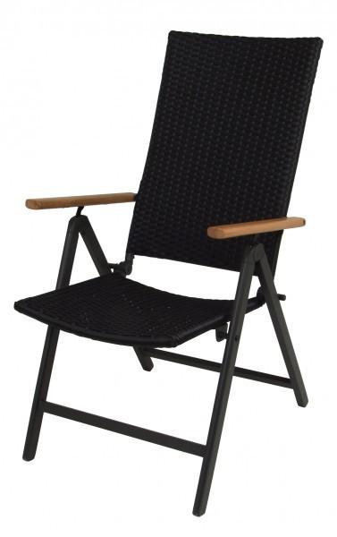 Alu-Klappsessel-Gartensessel-Sessel-Gartenstuhl-Stuhl-Serra-braun-oder-schwarz
