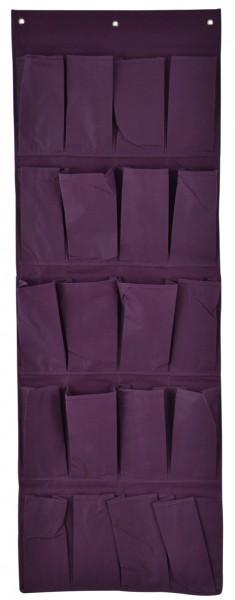stoffwandbehang mit 20 taschen 47x134cm stoffregal stoff organizer aufbewahrung ebay. Black Bedroom Furniture Sets. Home Design Ideas