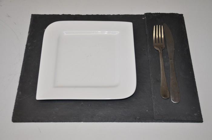 deko schieferplatten 2er set untersetzer tischset platzset schiefertafel tafel ebay. Black Bedroom Furniture Sets. Home Design Ideas