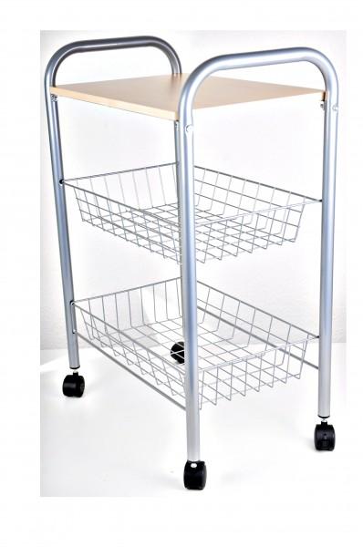 nischenwagen k chenwagen auf rollen servierwagen nischenrollwagen beistellwagen ebay. Black Bedroom Furniture Sets. Home Design Ideas