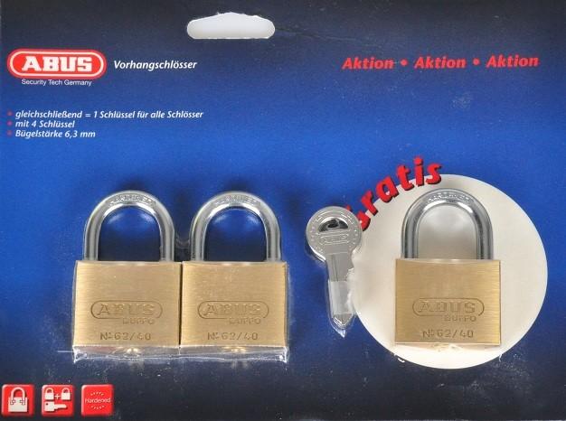 3er set abus sicherheitsschloss 4 schl sseln. Black Bedroom Furniture Sets. Home Design Ideas
