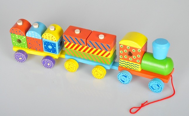 Kindereisenbahn bausteinzug aus holz kinder spielzeug