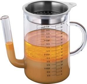 Kuechenprofi-Trennkanne-Fetttrennkanne-Fetttrenner-Saucentrenner-Glas-Edelstahl