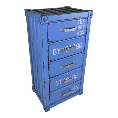 Schubladenschrank blau 5 laden container kleiderschrank for Schrank container