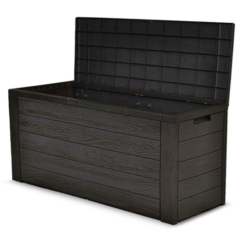 gartentruhe woody auflagenbox gartenbox gartentruhe auflagen kissenbox box kiste ebay. Black Bedroom Furniture Sets. Home Design Ideas