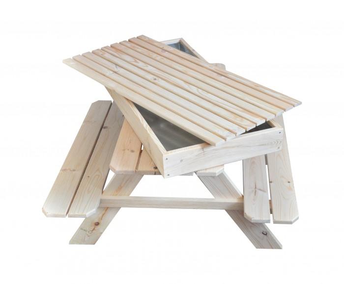 kinderpicknicktisch mit sandkasten picknicktisch sitzbank sitzgruppe sandkiste. Black Bedroom Furniture Sets. Home Design Ideas