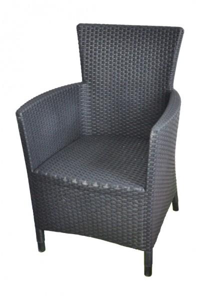 montana dining sessel anthrazit kunststoff geflecht gartensessel rattansessel ebay. Black Bedroom Furniture Sets. Home Design Ideas